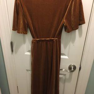 Amber Velvet midi wrap dress.